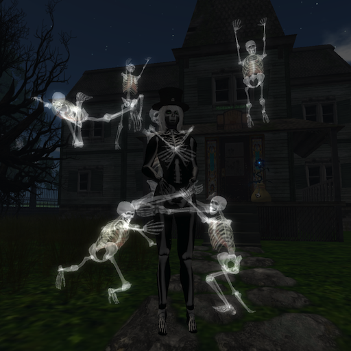 Skeleton Uccie outside the 2011 Haunted House.png
