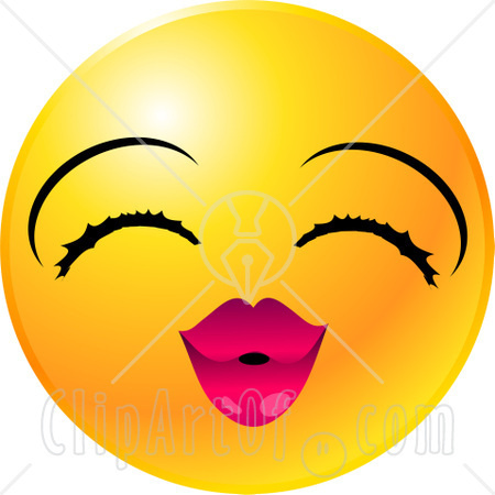 22134-Clipart-Illustration-Of-A-Yellow-Emoticon-Face-Lady-With-Eyelashes-And-Pink-Lips-Puckering-Up-For-A-Kiss.jpg