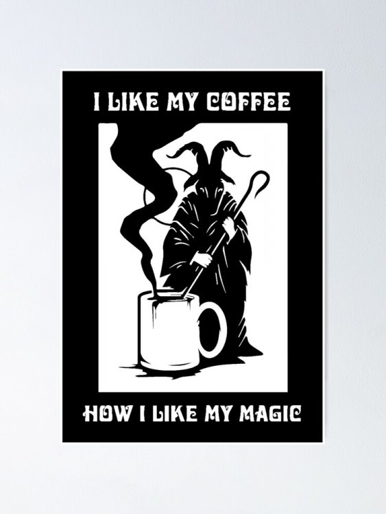 "I like my coffee - Black"" Poster by funprints 