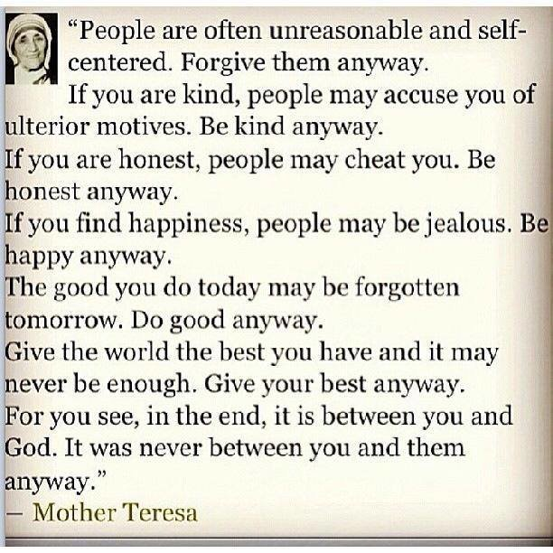 Mother Teresa – Do Good Anyway! – Online Fellowship