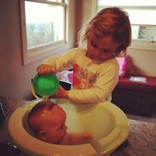 Image result for bathing newborn
