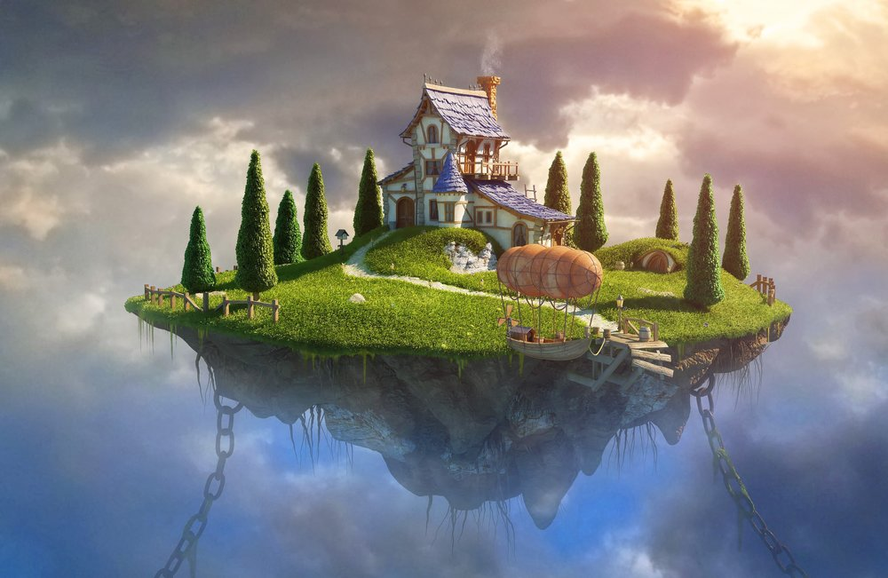 Image result for house on floating island