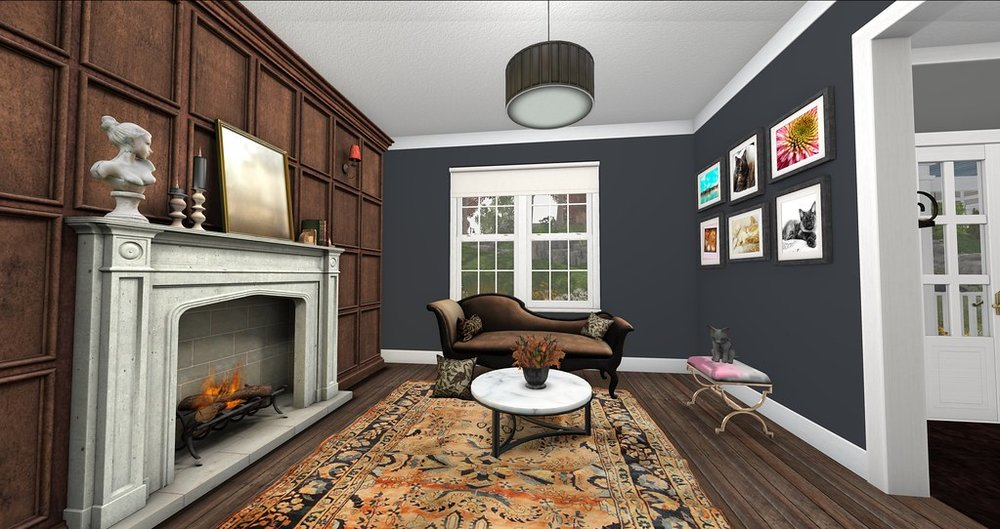 Edgar House Living Room (Prior House) - Continental Model