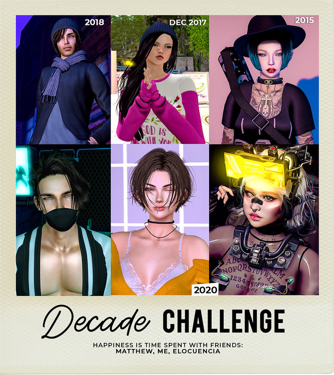 #SecondLifeChallenge #DecadeChallenge - Me and my besties