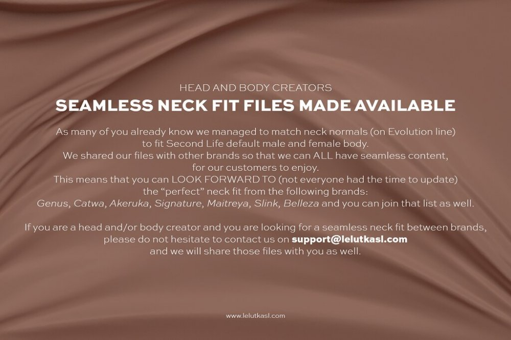 SEAMLESS NECK FILES MADE AVAILABLE!