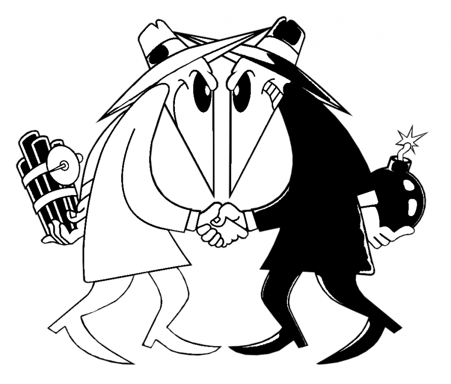 "O] ""Spy vs. Spy - Betrayal"" Request filled : StencilTemplates"