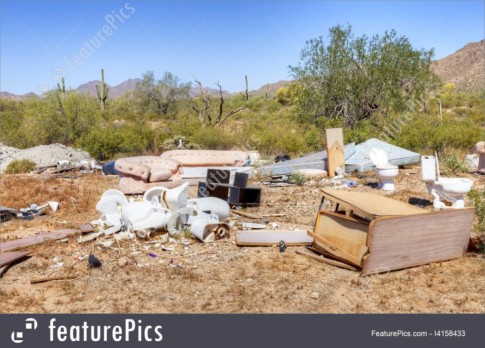 Image result for trash in the desert images