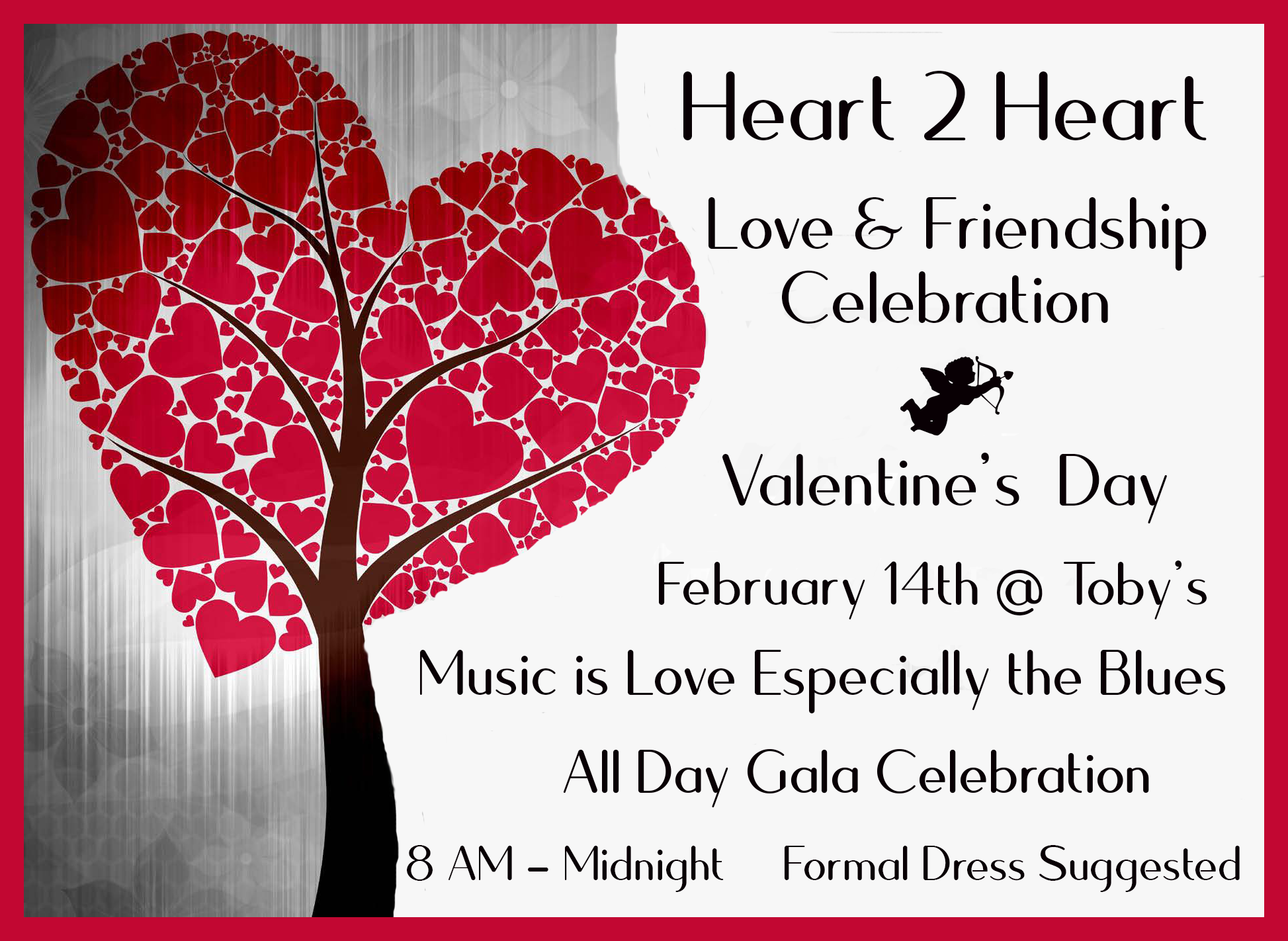 Valentines Day Love And Friendship Celebration Formal Dress Up