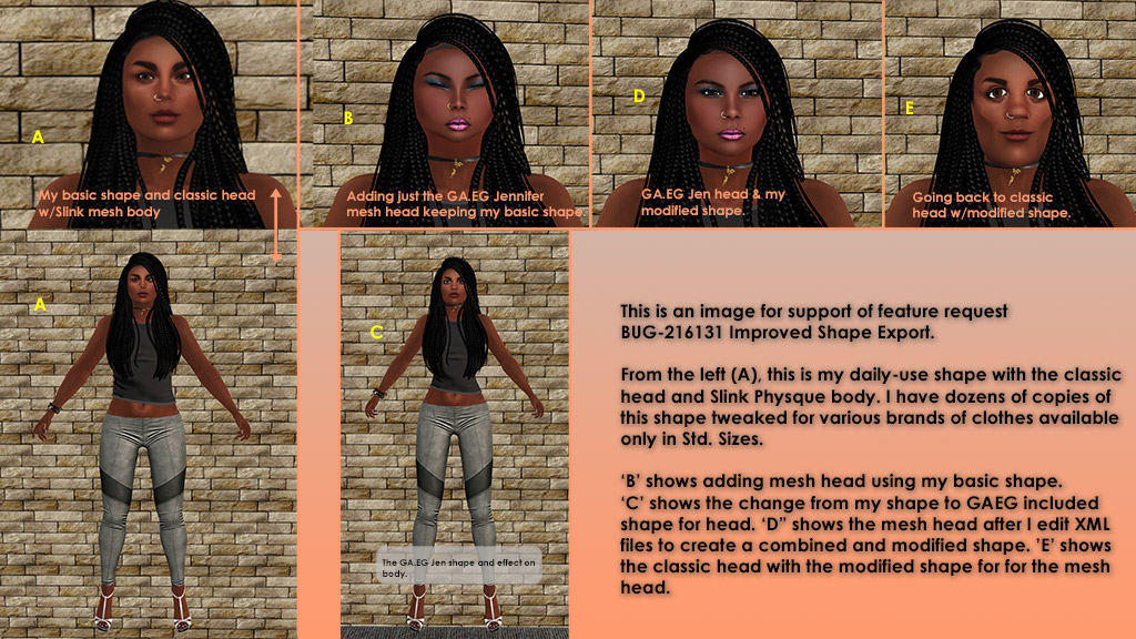 Head and body shape configuration should be separated - Your