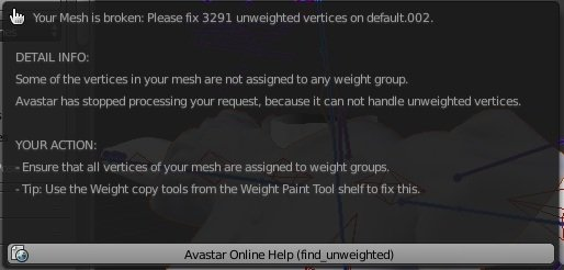 some of the vertices in your mesh are not assigned to any weight