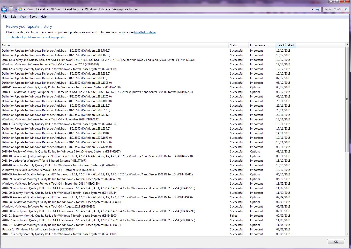 SL crashes computer after recent windows 7 update - Second Life