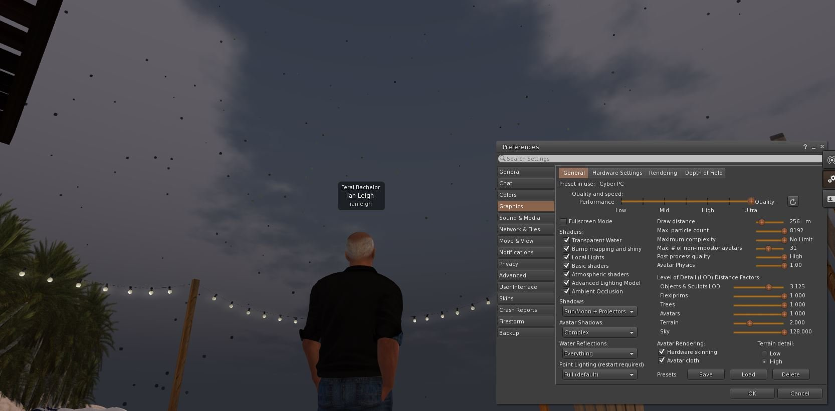 Black spots in sky - General Second Life Tech Discussion