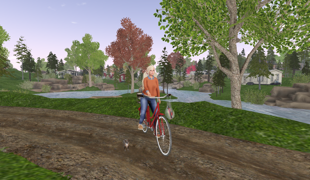Elfie and Minnie Bike Riding.png