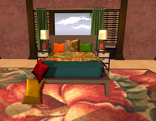 Bed 5 with Bedside tables lamps pillows and carpet.jpg