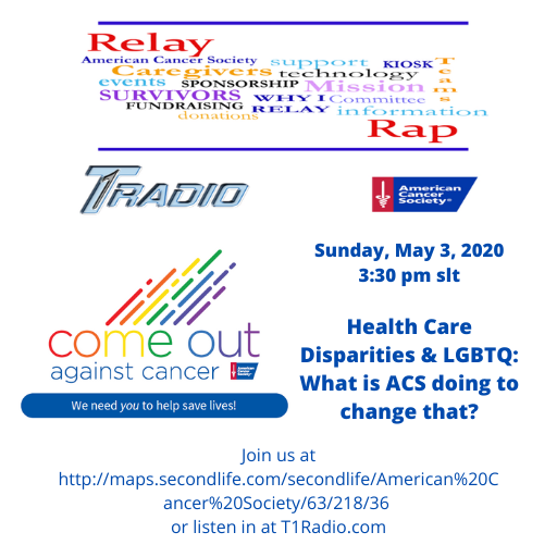 Sunday, May 3, 2020 3_30 pm slt Health Care Disparities & LGBTQ_ What ACS is doing to change that_.png