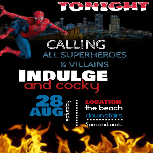 Flex Promotions Presents Superheroes & Villains 5PM @ Indulge.png