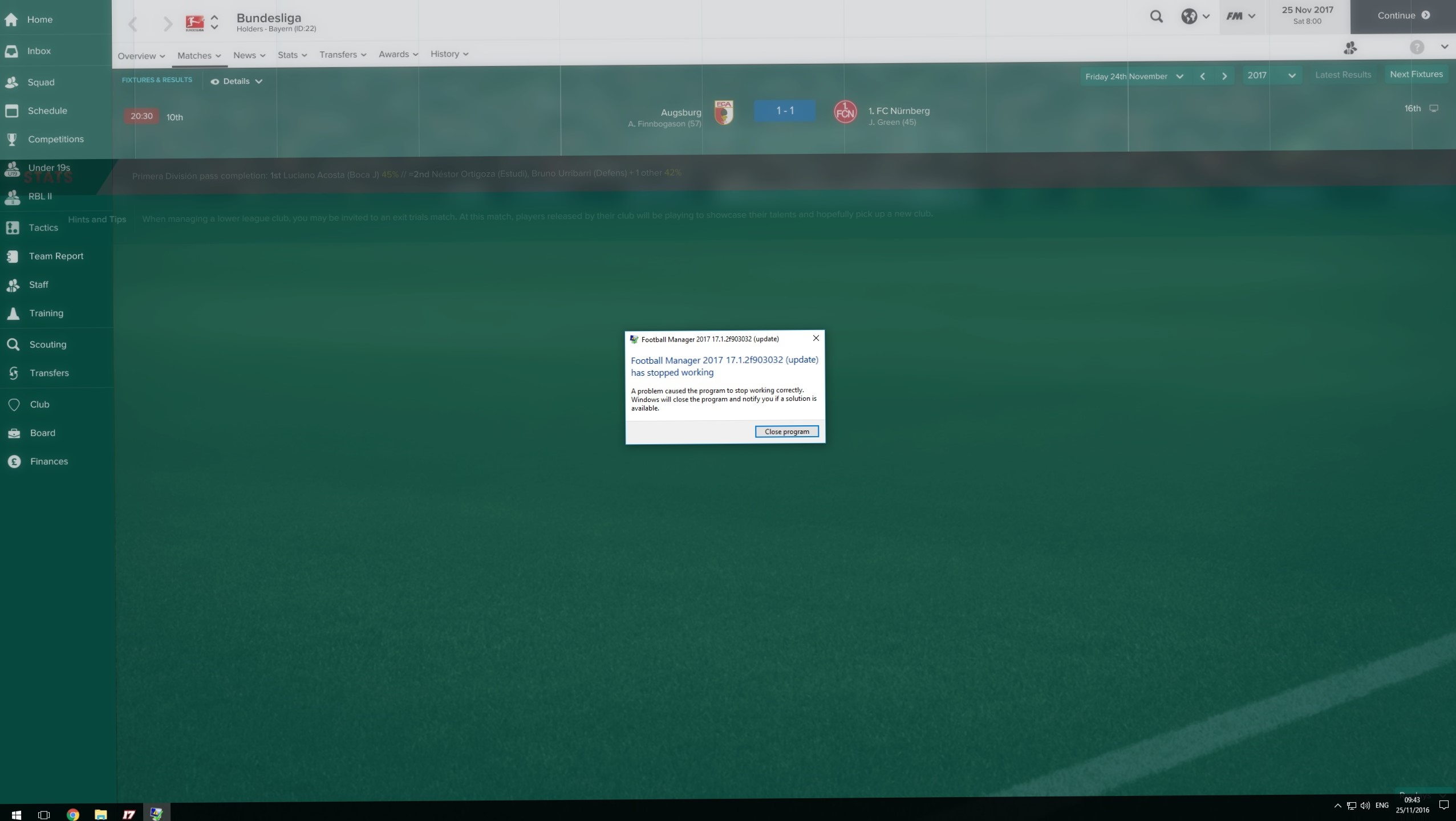 Game started crashing after 131 hours - Crashes and