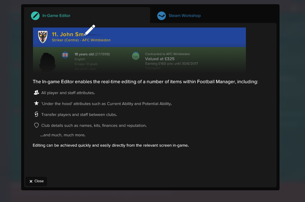 football manager 2017 real time editor free