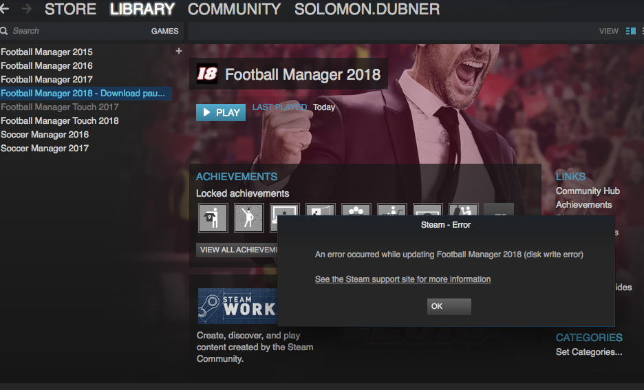 Download Not Working - Football Manager General Discussion