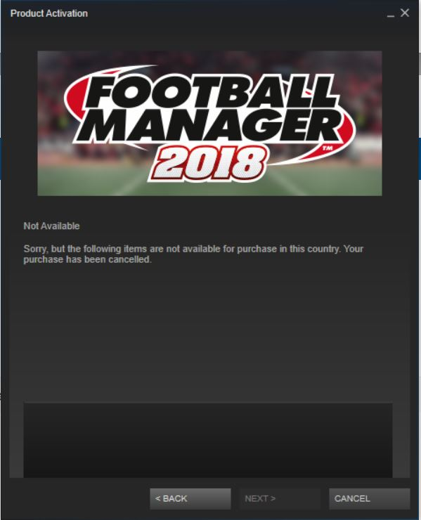 Product Activation Code On Steam Doesnt Work Football Manager