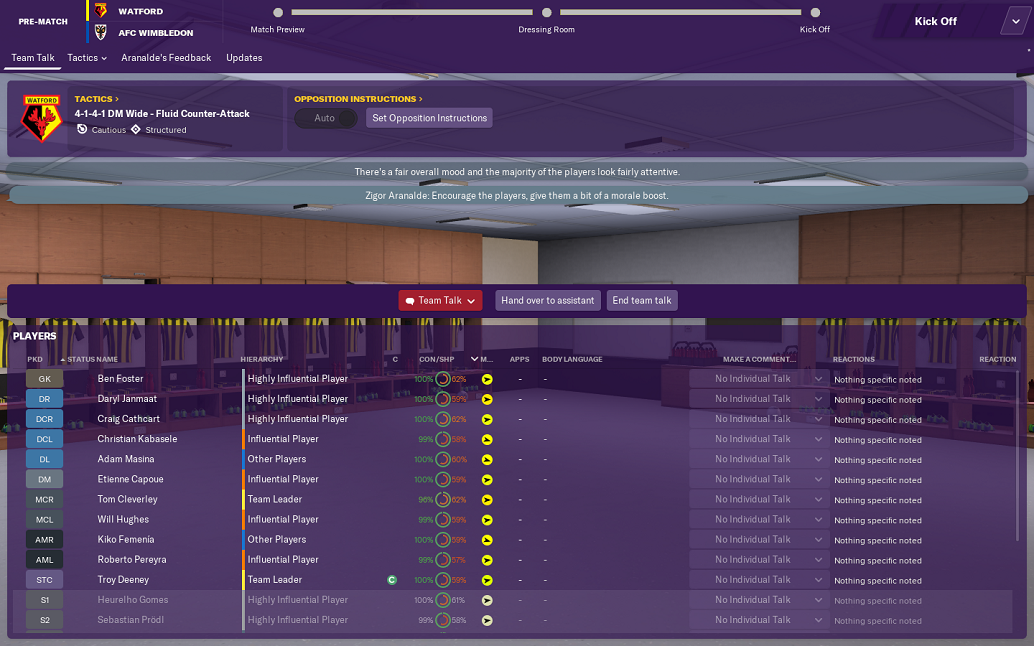 Image result for FM 19 team talks