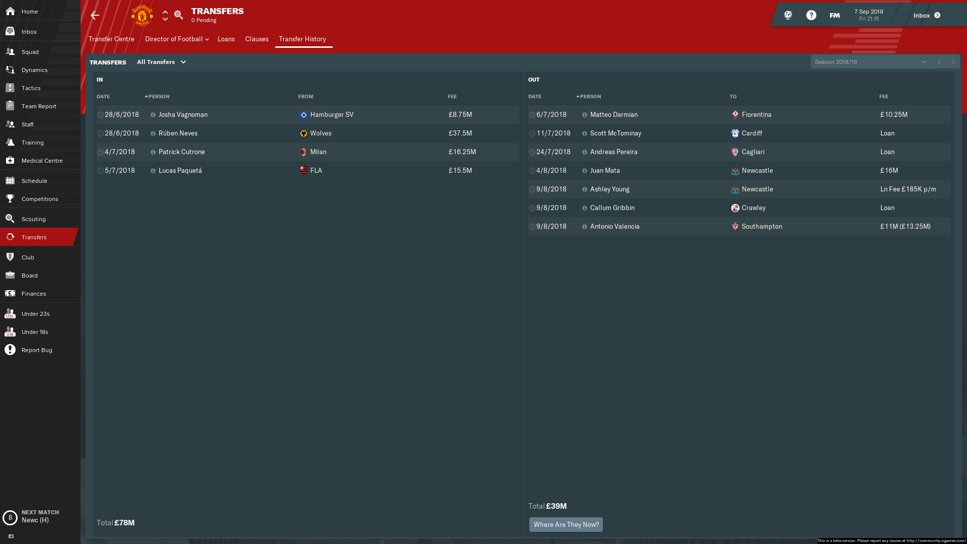 FM19] Manchester United - Good Player & Team Guide - Sports