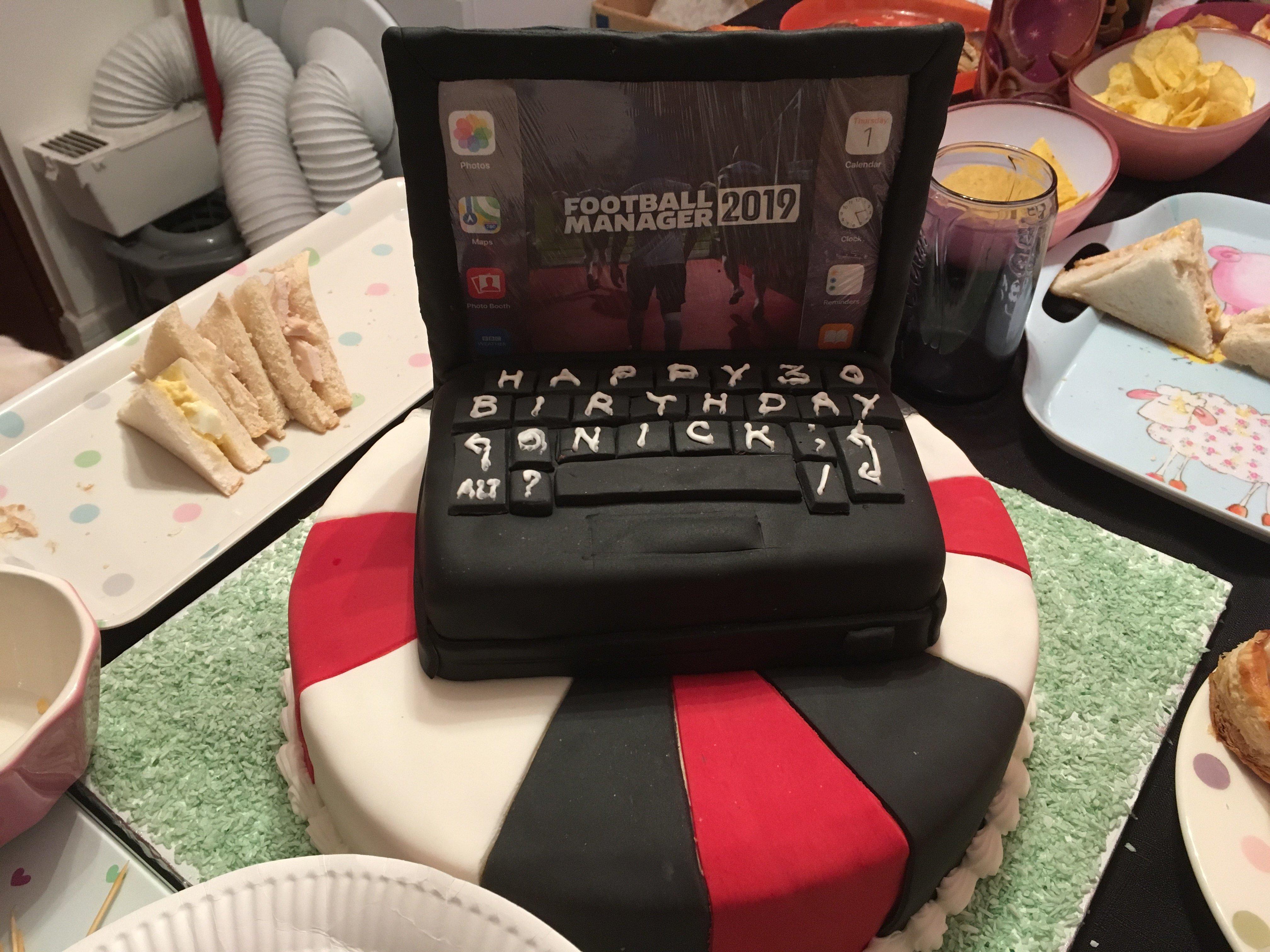 Fantastic Football Manager Birthday Cake Football Manager General Funny Birthday Cards Online Inifofree Goldxyz