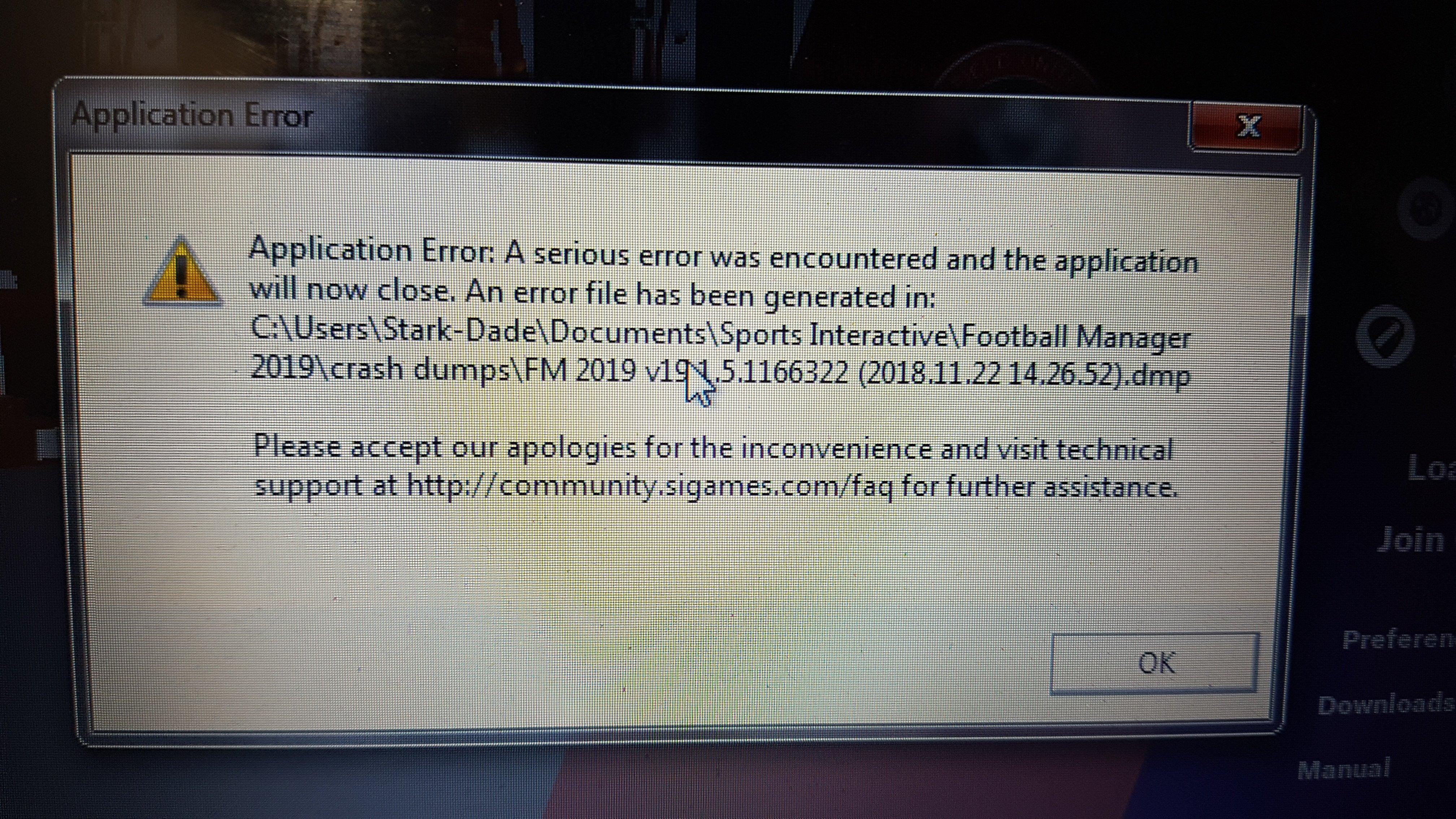 Fm19 crash dump fix