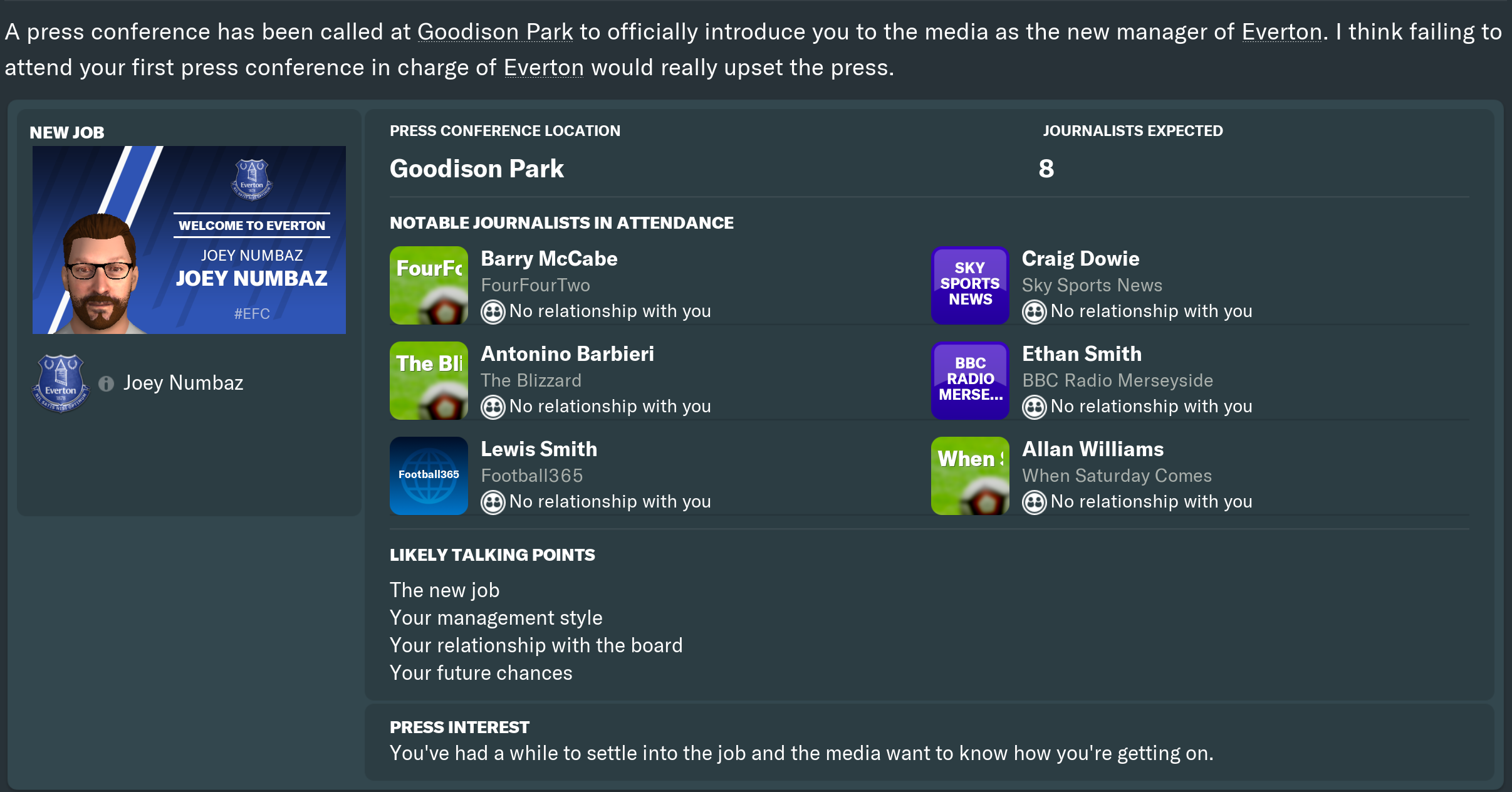 FM19 - Returning Everton to Glory - FM Career Updates - Sports