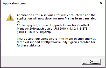 Crash Dump (After a match is finished) - Crashes and Technical