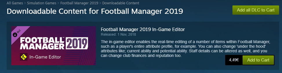 FM19 In-game editor isn't appearing! - Football Manager