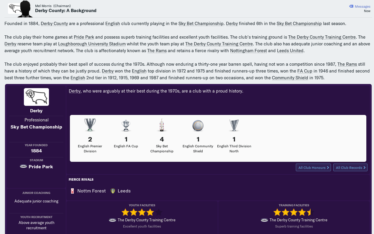 FM19] Derby County - Good Player & Team Guide - Sports