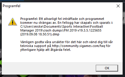 FM19 Crashes all the time - Crashes and Technical Issues