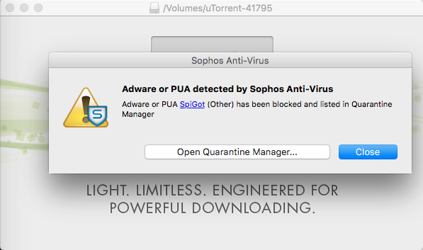 Cannot install or run uTorrent on Mac OS X - AdWare