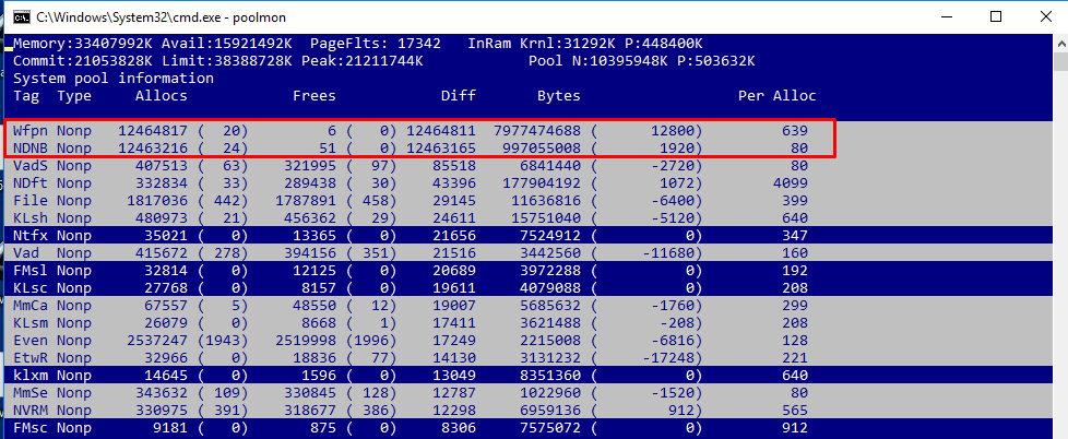 killer network drivers memory leak