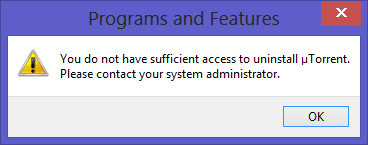 Cannot Uninstall As Administrator Troubleshooting µtorrent Community Forums