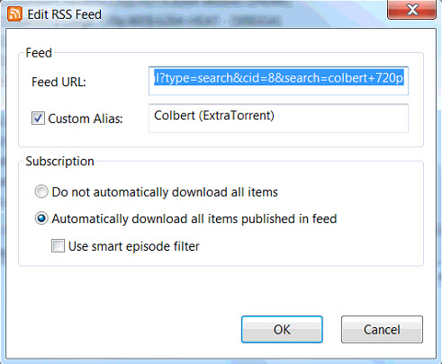 Some RSS Feeds Won't Download - Troubleshooting - µTorrent