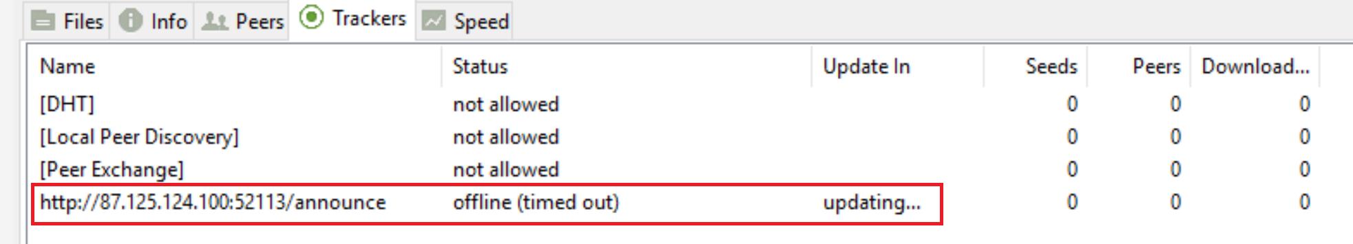 utorrent tracker function don't work - Troubleshooting - µTorrent