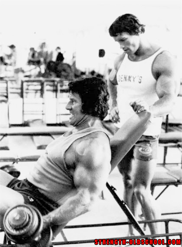 Arnold Schwarzenegger Training with his Idol Reg Park