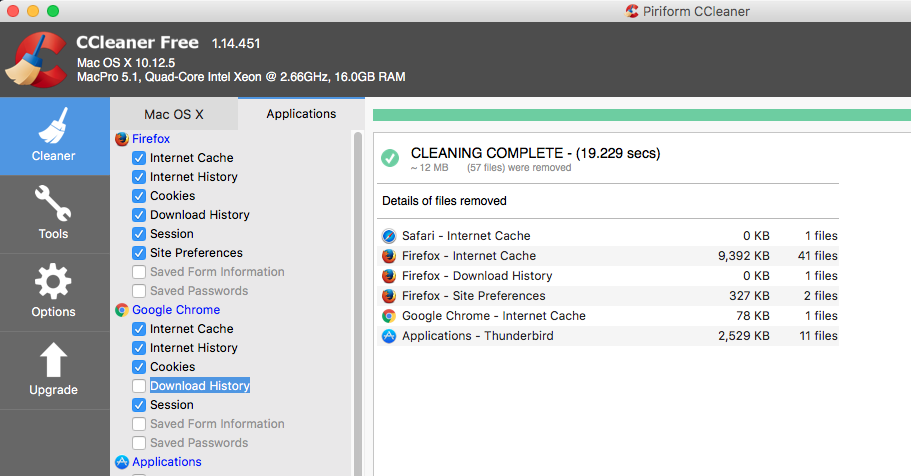 Hangs @ 86% Chrome Download History - CCleaner for Mac - CCleaner