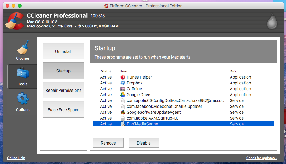 How to disable CCleaner from starting itself up - CCleaner