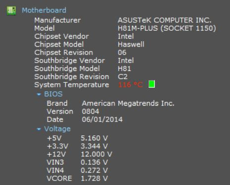 The Wrong Temperature Thread - Speccy Bug Reporting - CCleaner
