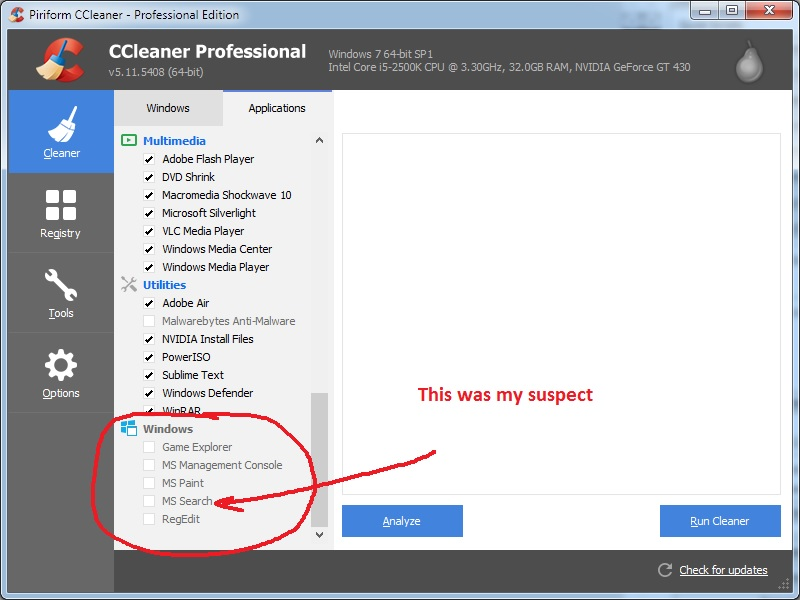 Windows 7 Search Index Clearing - CCleaner Discussion