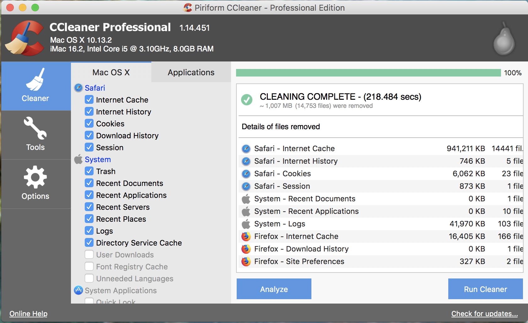 ccleaner para macbook pro