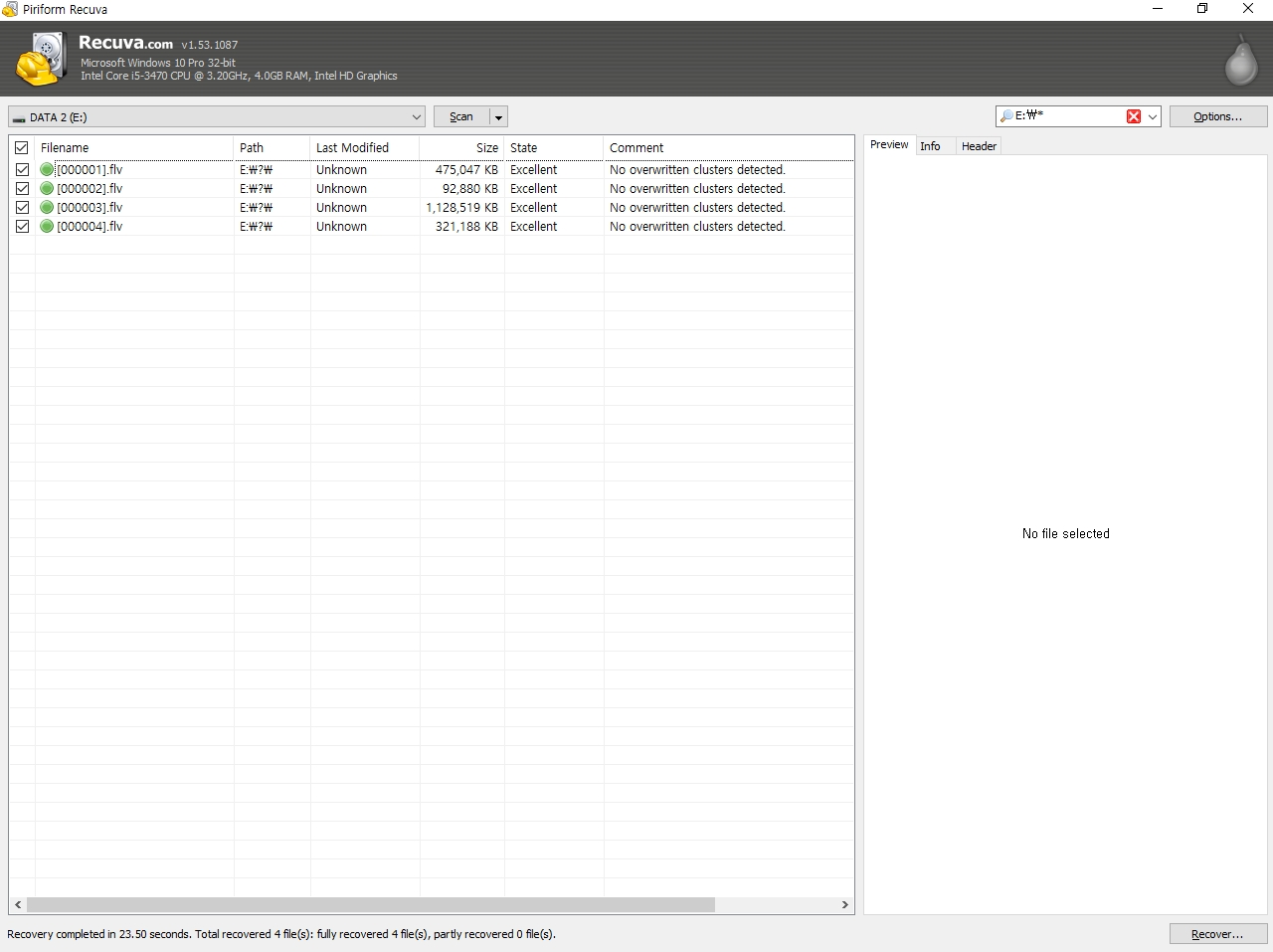 Flv files on thumb drive