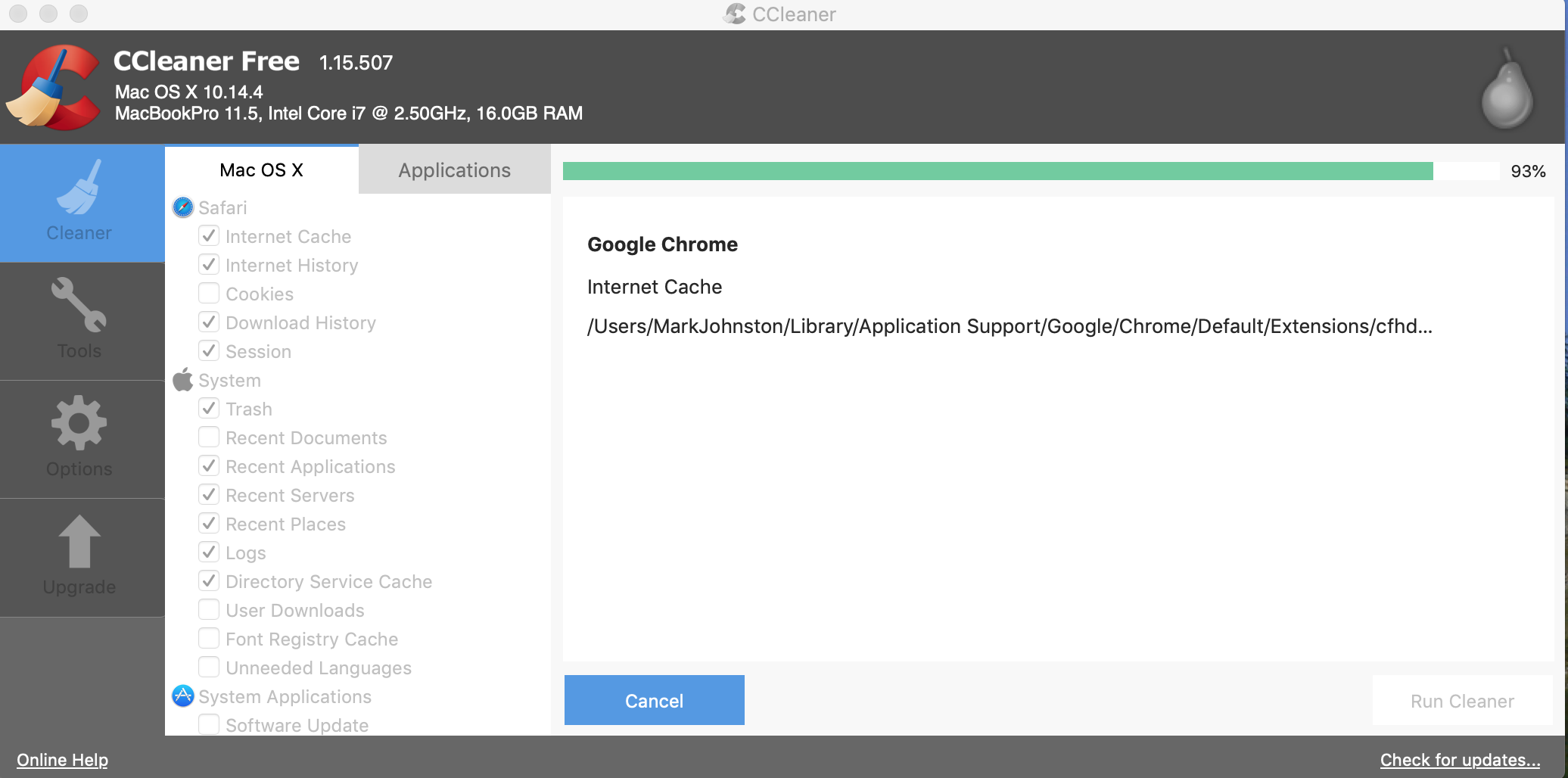 CCleaner for Mac hangs - CCleaner for Mac - CCleaner