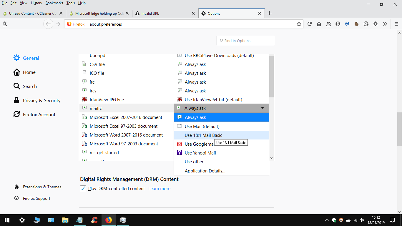 Microsoft Edge holding up Ccleaner - CCleaner Bug Reporting
