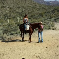 Me Horseback riding in AZ Jan 2014