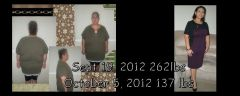 Jan's Before And After For Jan 262lbs On Sept 19 2011 And 137lbs On October 5 2012