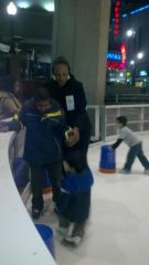 Ice skating with my son